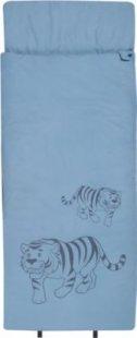 10T Tiger XXL Kinderschlafsack 180x75cm Deckenschlafsack mit Tiger Motiv Schlafsack mit bauschiger 300g/m² Füllung und Soft-Touch Material innen &amp außen für 3 / 4 Jahreszeiten Frühling Sommer Herbst