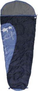 10T Riley 300 - Kinder Mumien-Schlafsack 180x80cm blau/hellblau Motivdruck bis +10°C