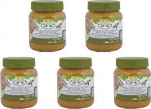 Dominik Gartenparadies Vogelfutter Erdnussbutter für Wildvögel, kalorienreich, 5 Gläser á 340 gr.