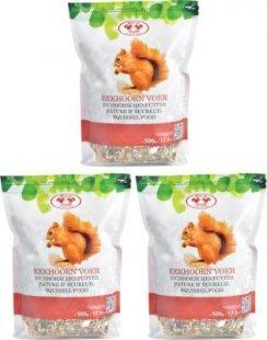 Dominik Gartenparadies Eichhörnchenfutter, 500 gr., 3 Stück