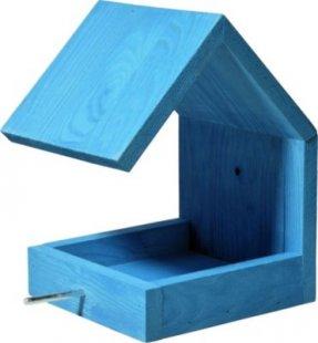 Luxus-Vogelhaus himmelblaues Design-Vogelfutterhaus mit Satteldach und Anflugstange
