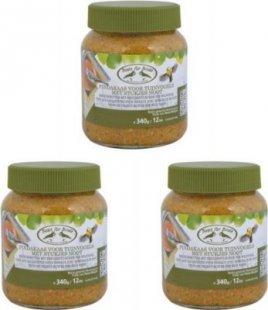 Dominik Gartenparadies Erdnussbutter für Wildvögel, kalorienreich, 340 gr., 3 Stück