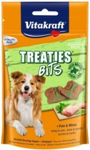 Vitakraft Hundesnack Treaties Bits, Pute und Minzöl - 120g