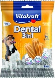 Vitakraft Dental 3in1 - Zahnpflege-Snack für Hunde von 5-10 kg - 7 Sticks