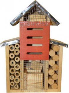 Insektenhotel Insektenhaus Holz Nistkasten Brutkasten Insekten L29xB9xH2cm Neu