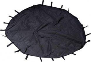 8-eckige Nylon-Unterlage für Kleintier-Freigehege, 135 x 135 cm großer Abdeckboden mit Schlaufen in schwarz