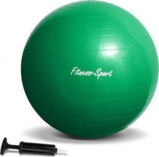 JOM Gymnastikball, Sitzball für Fitness und Sport bis 300 kg, mit Pumpe, Größe S, 65 cm, grün