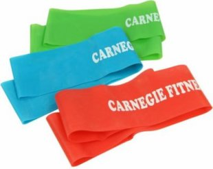 Carnegie 3x Trainingsband Fitness-Band Expander Widerstand Übungs-Loop 52x5 cm