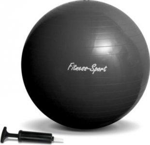 JOM Gymnastikball, Sitzball für Fitness und Sport bis 300 kg, mit Pumpe, Größe S, 65 cm, schwarz