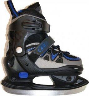 Kinder Flash Eishockey Schlittschuhe Gr 32-35 Softboot Eislaufschuhe verstellbar