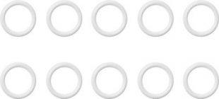 Lichtblick Ringe Cafehausstange 10 Stück - Kunststoff - Weiß