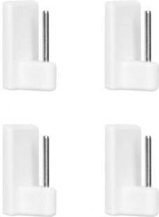 Lichtblick Klebehaken für Vitragestange 4 Stück - Weiß