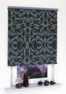 Liedeco Rollo mit Kette Verdunkelung Dekor Ornament, Seitenzugrollo für Fenster