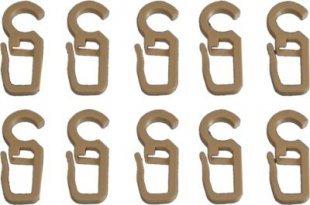 Liedeco Faltenlegehaken für Gardinenstangen, 28 mm, 10 Stk