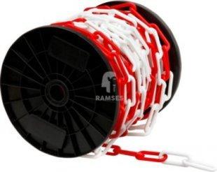 Kunststoff Absperrkette rot-weiss Ø 8 mm Meterware
