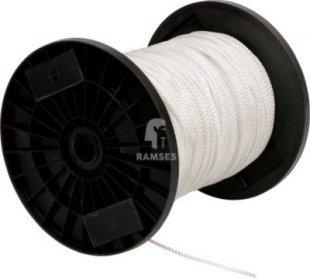 Nylonseil weiss geflochten Ø 12 mm DIN 83307 Meterware