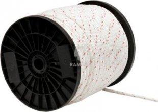 Ankerleine weiss-rot Ø 8 mm Polyester Meterware