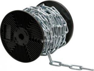 Rundstahlkette DIN 5685-1 langgliedrig C 40 Ø 4 mm Stahl verzinkt Meterware