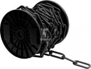 Regenablaufkette Schwarz Ø 8 mm Kunststoff Meterware