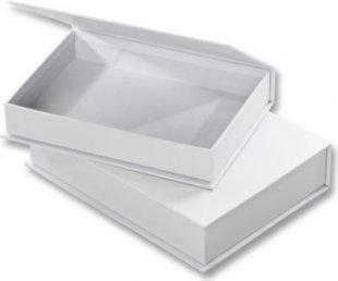 Folia Pappschachtel zum Bemalen, Klappdeckel-Boxen, blanko, weiß (2er Pack)