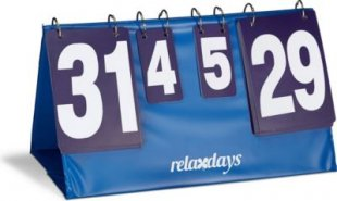 relaxdays Zähltafel Tischtennis mit Tragetasche