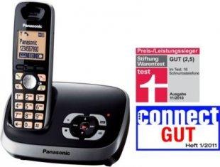 Panasonic KX-TG6521GB schwarz mit AB