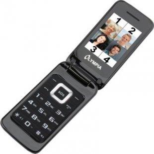 OLYMPIA Luna Senioren Mobiltelefon, Schwarz