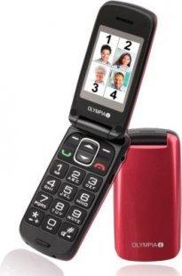 Senioren Großtasten Handy Olympia Classic Premium in Rot