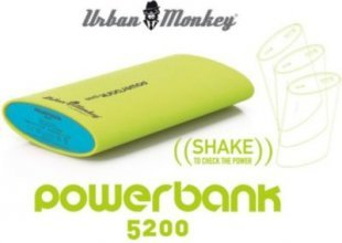 PowerBank 5200 Urban Monkeys Grün