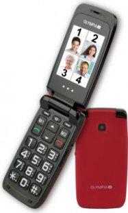 OLYMPIA Classic 2206 Komfort-Mobiltelefon, große Tasten,rot