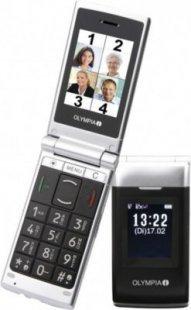 Klappbares Olympia Senioren Großtasten-Mobiltelefon mit Aussendisplay Nova Plus