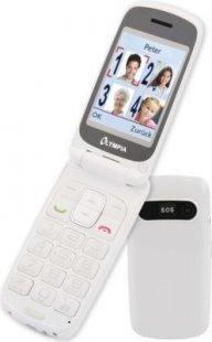 OLYMPIA Primus Senioren Komfort Mobiltelefon, große Tasten, Weiß