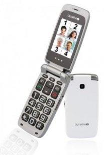 OLYMPIA Classic 2208 Komfort-Mobiltelefon, große Tasten, Weiß