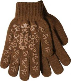 PFIFF Handschuh mit Print - braun/beige
