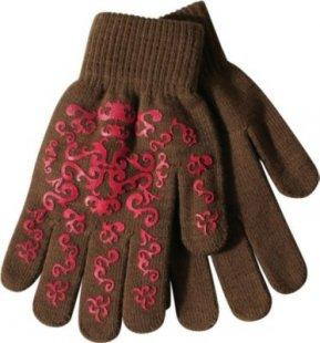PFIFF Handschuh mit Print - braun/pink