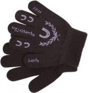 PFIFF Handschuh für Kinder mit Print - schwarz/flieder