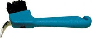 ELDORADO Hufauskratzer mit Bürste - blau