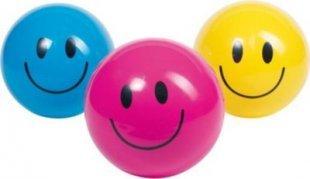 goki 15293 Toys Pure Smile Ball, Ø= 20 cm, unaufgeblasen (Farbe zufällig, 1 Stück)