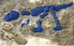 EDUPLAY 160-003 Sandformen, Dinosaurier, blau, 10-teilig (1 Set)