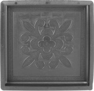 Betonform Holz französische Lilie 30 x 30 x 3 cm