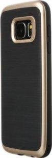 Schutzhülle Samsung S7 Smartphone Handy Case Tasche Handyhülle schwarz gold Etui