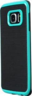 Schutzhülle Samsung S6 Edge Smartphone Handy Tasche Handyhülle schwarz grün