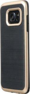 Schutzhülle Samsung S7 Edge Smartphone Handy Tasche Handyhülle schwarz gold