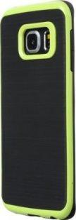 Schutzhülle Samsung S6 Edge Smartphone Handy Hülle Tasche schwarz hell grün