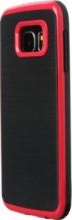 Schutzhülle Samsung S6 Smartphone Handy Case Tasche Handyhülle schwarz rot Etui