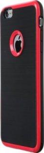 Schutzhülle iPhone 6 Plus Smartphone Handy Case Tasche Handyhülle schwarz rot