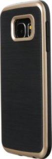 Schutzhülle Samsung S6 Smartphone Handy Case Tasche Handyhülle schwarz gold Etui