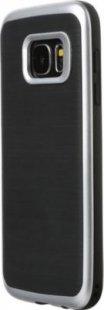 Schutzhülle Samsung S7 Smartphone Handy Case Tasche Handyhülle schwarz silber
