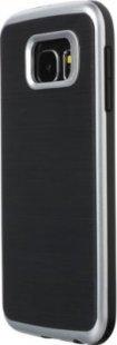 Schutzhülle Samsung S6 Smartphone Handy Case Tasche Handyhülle schwarz silber