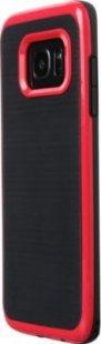 Schutzhülle Samsung S7 Edge Smartphone Handy Case Tasche Handyhülle schwarz rot